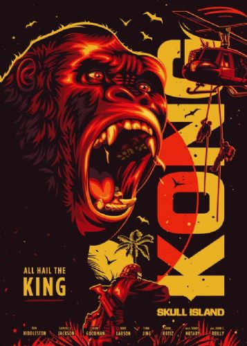 2010's Movie - KONG - SCULL ISLAND MINIMAL canvas print - self adhesive poster - photo print